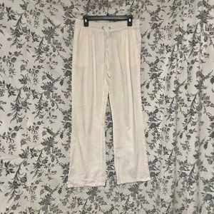 FOREVER 21 / Ivory Linen Pants / SZ M